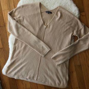Sweaters - Tan V-Neck Sweater | Size Medium